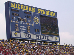Michigan Stadium takes message board to another level