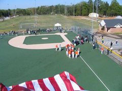 Miracle League baseball field gets donation for upgrades and electronic scoreboard