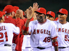 Be careful when you join the Angels team: you might get punked on the scoreboard